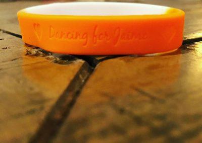 Orange Ribbons for Jaime bracelet