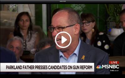 Gun safety will factor into 2020, says Parkland parent