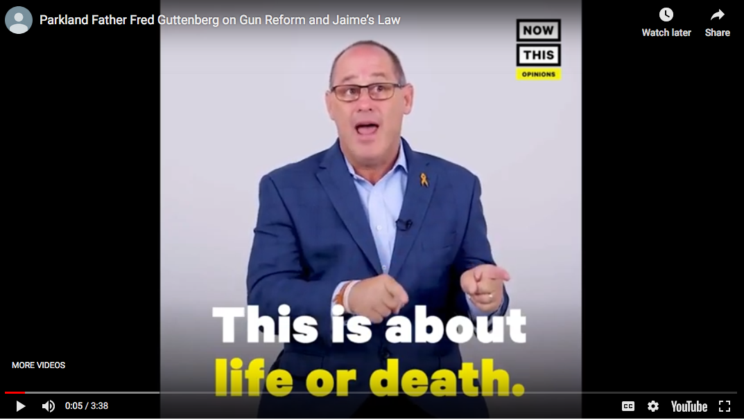 Parkland Father Fred Guttenberg on Gun Reform and Jaime's Law