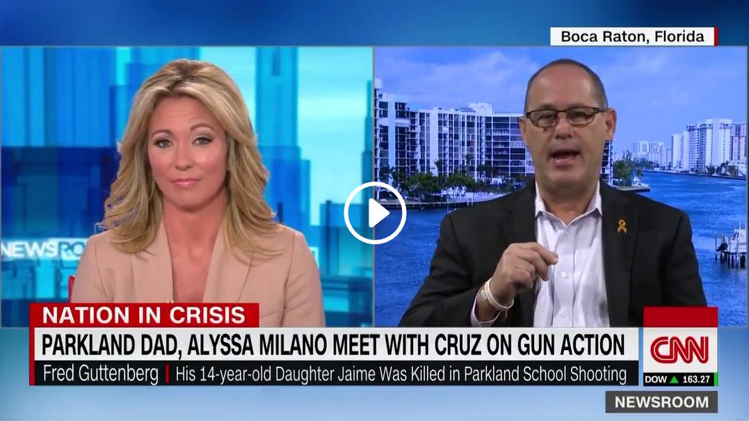 Parkland dad describes meeting with Alyssa Milano and Ted Cruz